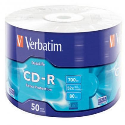 CD-R 700 Мб Extra Protection Verbatim в поэл.уп.