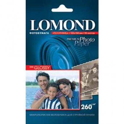 Фотобумага LOMOND полуглянцевая тепло-белая для струйной фотопечати