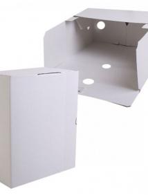 Короб архивный, 150мм, картон, цв. белый арт Лоткрб150Б