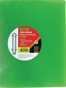 """Папка A4 2 кольца диаметром 16 мм и внутр карм зеленая полупрозр 0.70 мм """"Proff. Ultra"""" арт RB16-2U-03"""