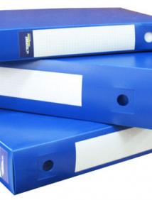 Архивная папка-короб пластиковая Expert Complete 0,7мм 75 мм с 2 торц.стикерами Classic синий арт 26055
