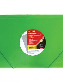 """Папка A4 с резинкой зеленая полупрозрачная 0.80 мм """"Proff. Ultra"""" арт DC202U-03"""