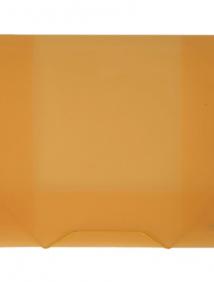 """Папка A4 20 мм с резинкой желтая полупрозрачная 0.70 мм """"Proff. Next"""" арт SB20TW-02"""