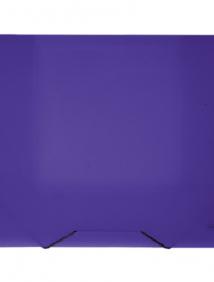 """Папка A4 20 мм с резинкой фиолетовая полупрозрачная 0.70 мм """"Proff. Next"""" арт SB20TW-09"""