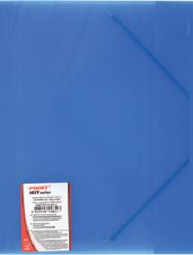 """Папка A4 40 мм с резинкой синяя полупрозрачная 0.70 мм """"Proff. Next"""" арт SB40TW-04"""