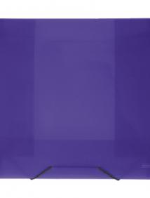 """Папка A4 40 мм с резинкой фиолетовая полупрозрачная 0.70 мм """"Proff. Next"""" арт SB40TW-09"""