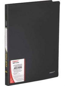 """Папка A4 с боковым прижимом и внутренним карманом черная 0.60 мм """"Proff. Next"""" арт CF901P-06"""