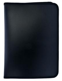 Папка для тетрадей  SPONSOR ф. A4, молн с 3-х стор. , пластик, черная, арт SFZA4-A-BK