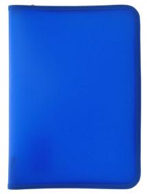 Папка для тетрадей  SPONSOR ф. A4, молн с 3-х стор.,  пластик, cиняя, арт SFZA4-A-BU