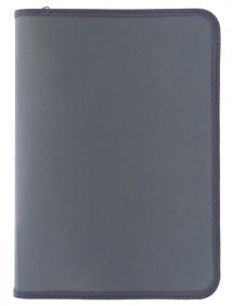 Папка для тетрадей  SPONSOR ф. A4, молн с 3-х стор.,пластик, серая, арт SFZA4-A-GY