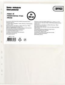 """Папка-вкладыш (файл) A4 0.027 мм (в пакете) 100 шт./в упаковке """"IOffice"""" арт A027-11-100"""