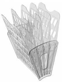 Лоток 5-ти секционный 4 отделения прозрачный (веер) арт ЛТ92