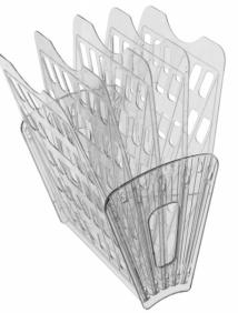 Лоток 5-ти секционный 4 отделения тонированный серый (веер) арт ЛТ93
