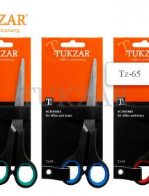 Ножницы пластиковые ручки, резиновые вставкии, европодвес, лезвие, 17 см арт TZ 65