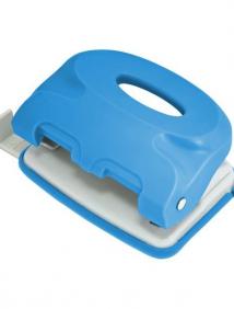 Дырокол COLOURPLAY, на 10 листов, пластиковый корпус, неоновый голубой, арт ICP110/BU