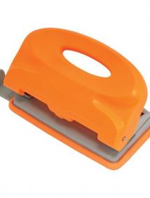Дырокол COLOURPLAY, на 10 листов, пластиковый корпус, неоновый оранжевый, арт ICP110/OR