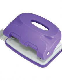 Дырокол COLOURPLAY, на 10 листов, пластиковый корпус, неоновый фиолетовый, арт ICP110/VL