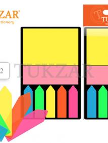 Набор блоков с липким слоем на пластиковой подложке /7,5*7,5*- 1 шт. бумага, 4,5*1 -5 шт. пластик/ цвет АССОРТИ арт TZ 1762