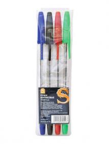 Набор шариковых ручек (4 цвета чернил), 4 штуки в блистере ,SPONSOR арт SBP050/4