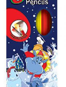 """Акварельные карандаши цветные """"Бегемотик"""" Лимпопо 6цв, Голландия арт 070661"""