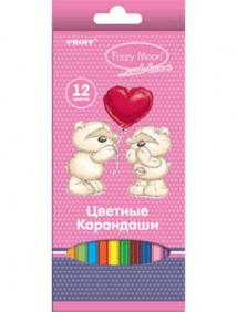 "Карандаши 12 цветов ""Proff. Fizzy Moon"" в картонной коробке с европодвесом арт FM17-BCL12"