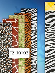 Крепированная бумага ШКУРЫ ЖИВОТНЫХ 50х250см, 1 лист в индивид.упаковке, ассорти 5 дизайнов арт TZ 10102
