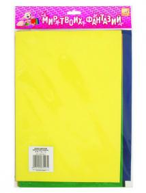 Набор самоклеющейся цветной бархатной бумаги, ф.A5, 7 цв., 7 л. ,FANCY CREATIVE арт FD010024