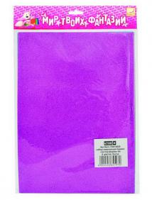 Набор цветной сверкающей самоклеющейся бумаги, ф.А4, 6 цв., 6л. ,FANCY CREATIVE арт FD010027