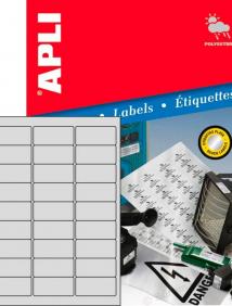 Влагоустойчивые серебрянные этикетки для лазерного принтера Apli