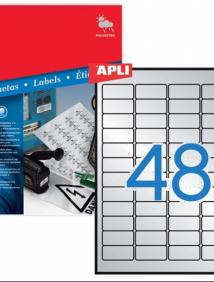 Влагоустойчивые белые этикетки для лазерного принтера Apli