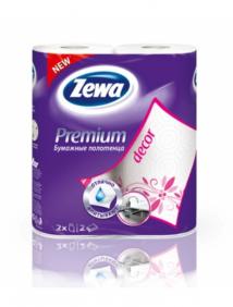 Бумажные полотенца Zewa Premium Decor 1*2 рул