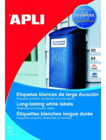 Влагоустойчивые белые этикетки из полиэстера Apli