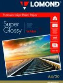 Суперглянцевая тепло-белая (Super Glossy Warm) микропористая фотобумага Lomond для струйной печати