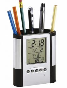 """Подставка для ручек-часы настольные """"Butler"""""""